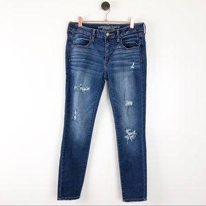American Eagle Distressed Skinny Jeans 8 Short